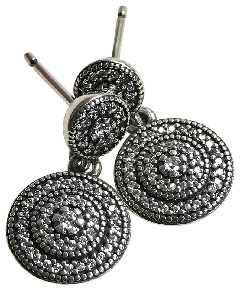 Pandora Drop Earrings: PANDORA Silver Sterling Radiant Elegance Drop Cubic