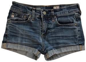 AG Adriano Goldschmied Cut Off Shorts blue denim