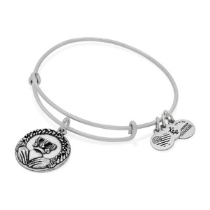 Alex and Ani Alex and Ani Claddagh Charm Bangle in Rafaelian Silver Finish A16EBCLR