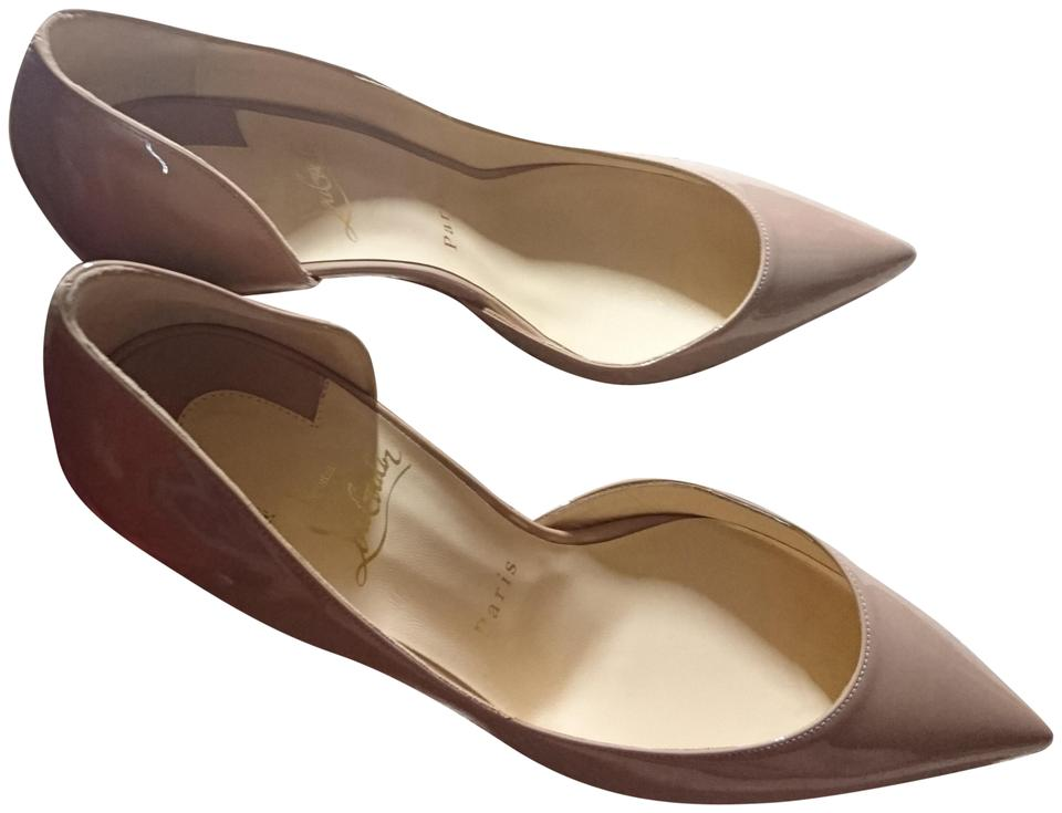 Christian Louboutin Nude So Kate 120 Patent Leather Pumps