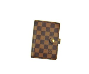 Louis Vuitton Agenda PM Damier Canvas Leather Notebook Planner Cover
