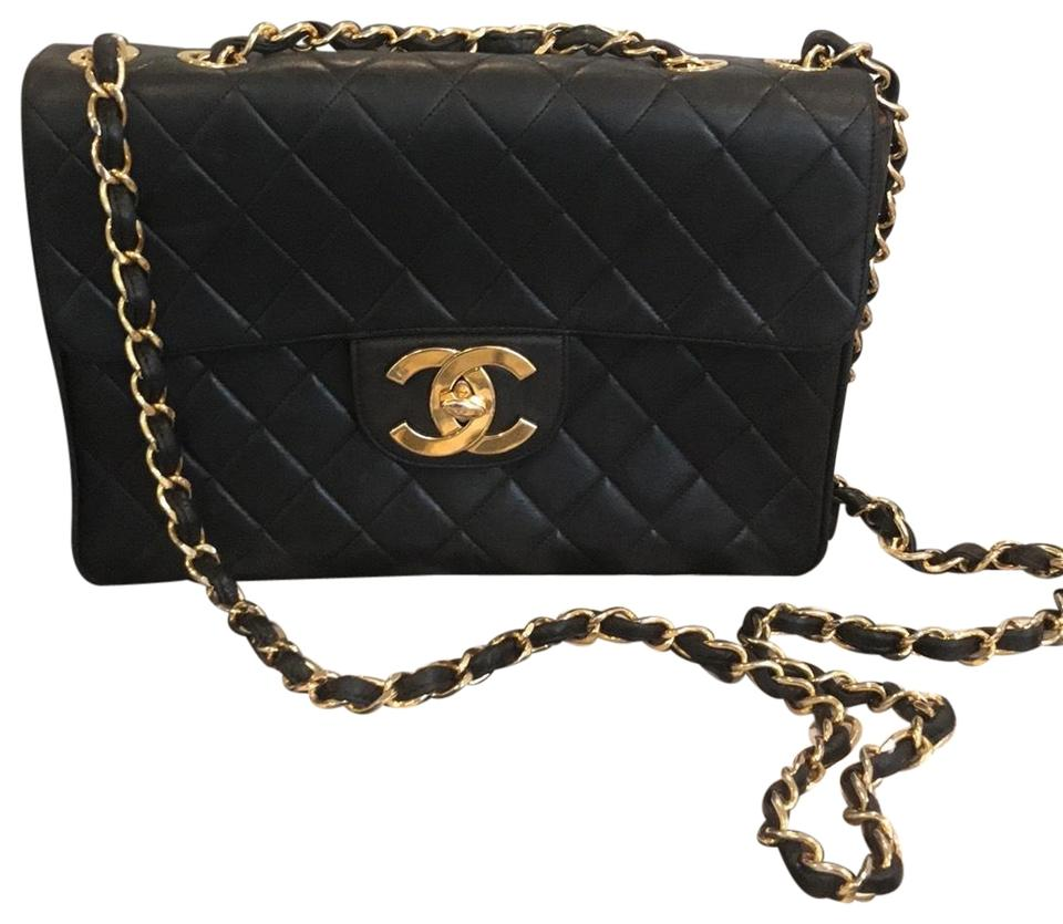 19824eaad0d Chanel Classic Flap XL Vintage Black Quilted Lambskin Classic Maxi ...