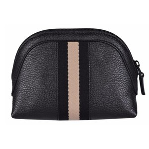 Gucci Gucci Women's Web Black Leather Cosmetic Bag 339558