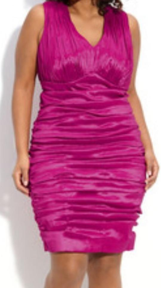 Calvin Klein Hot Pink Designer Collection Short Cocktail Dress Size ...
