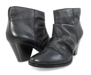 Splendid Leather Pull-on Western Slouchy Black Boots
