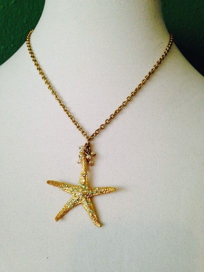 Bella Jack Bella Jack NWOT Starfish Green Crystal & Pearl In Gold-Tone Necklace Only! Bracelet & Earrings Sold Seperately.