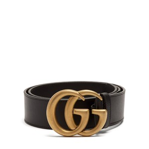 Gucci Size 85/34 GG-logo 4cm leather belt