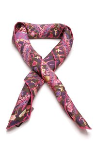 Louis Vuitton Louis Vuitton Leopard Charm Silk Scarf - Fuchsia