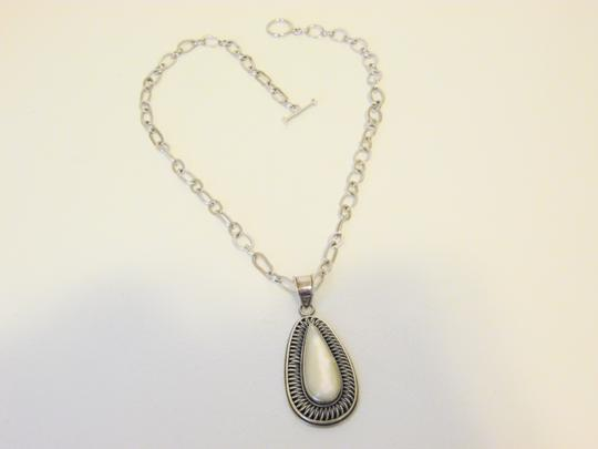 Colleen Lopez Colleen Lopez Mother of Pearl Pear 925 Pendant w/ 18.5