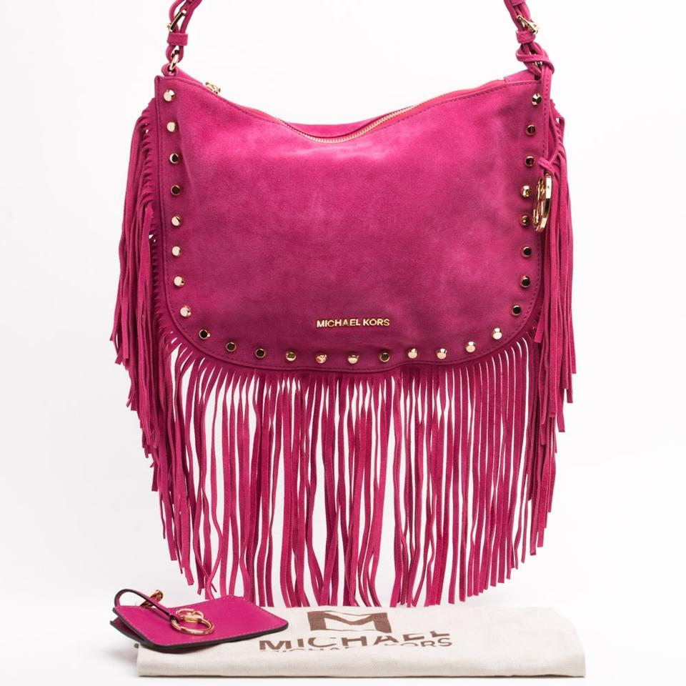 d9fb09fbea0bee MICHAEL Michael Kors Fringe Dakota Shoulder Bag Image 11. 123456789101112
