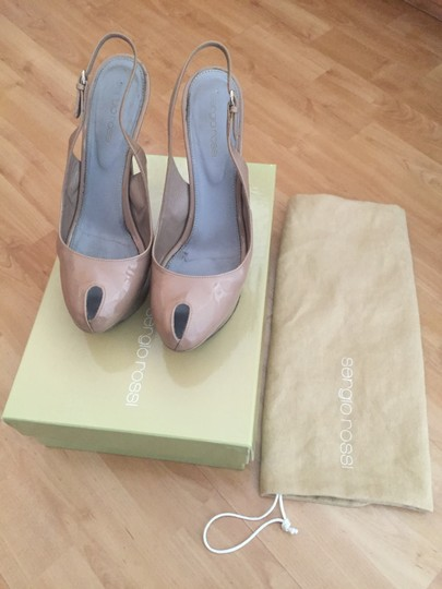 Sergio Rossi S11 100o/T-sling-nude Nude Sandals