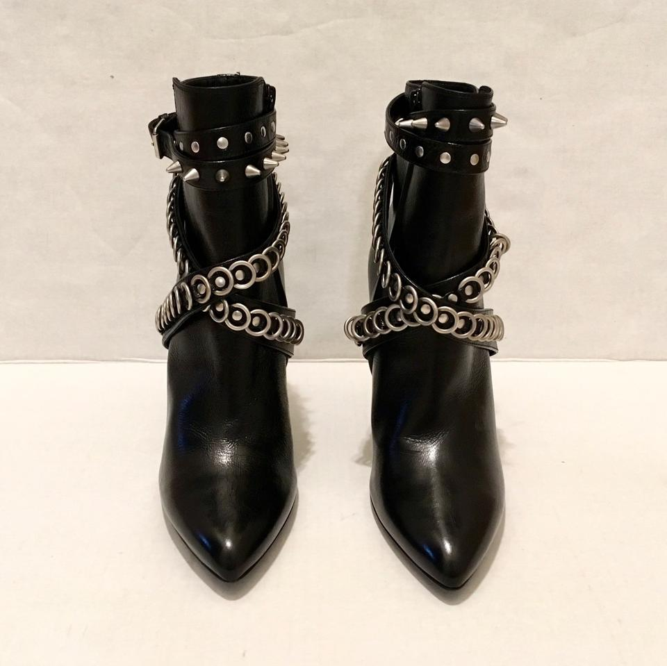 4f986fcddd8 Saint Laurent Black Chain Wrapped Tumbled Ankle Boots/Booties Size US 7  Regular (M, B) 63% off retail