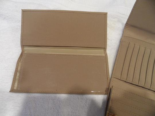 Nine West Large capacity, Nine West, trifold wallet in beige and brown