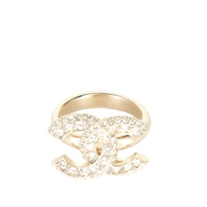 Chanel Chanel CC Strass Jeweled Ring Sz 6