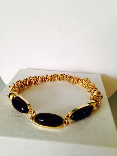 Other NWOT Black Stone in Gold-Tone Stretch Bracelet