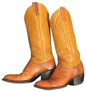 """Dan Post Boots Rust- looking but called exotic """"HONEY GOLD"""" Boots"""