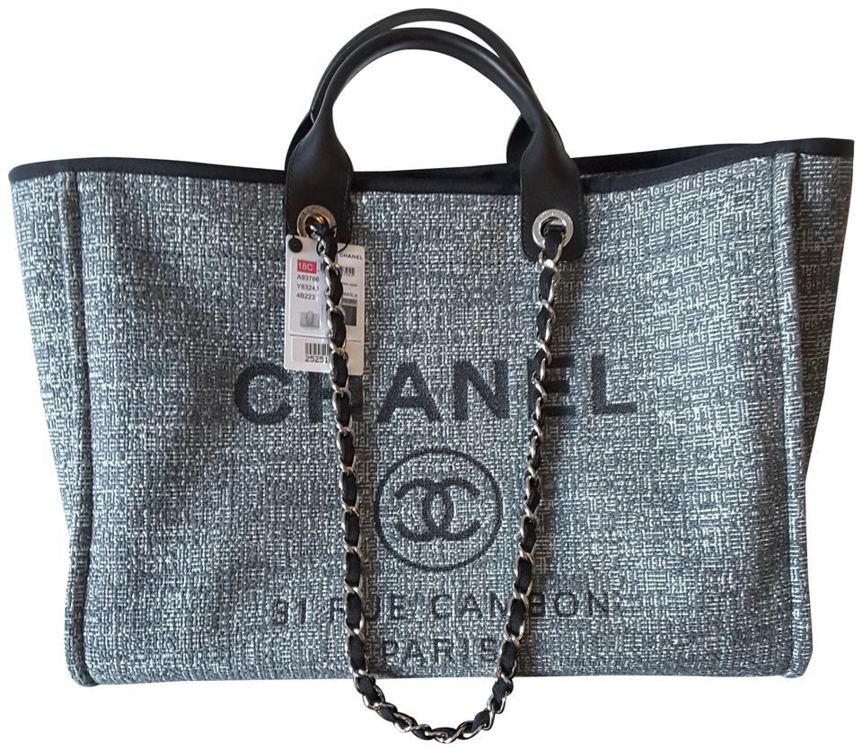 977378be Deauville Grey Canvas Tote