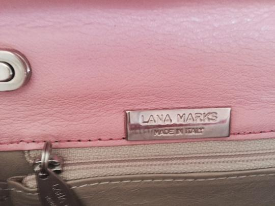 LANA MARKS Lizard Evening metallic pink Clutch