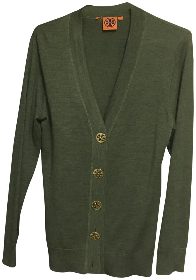 Tory burch olive sweater l button down top size 12 l for Tory burch button down shirt