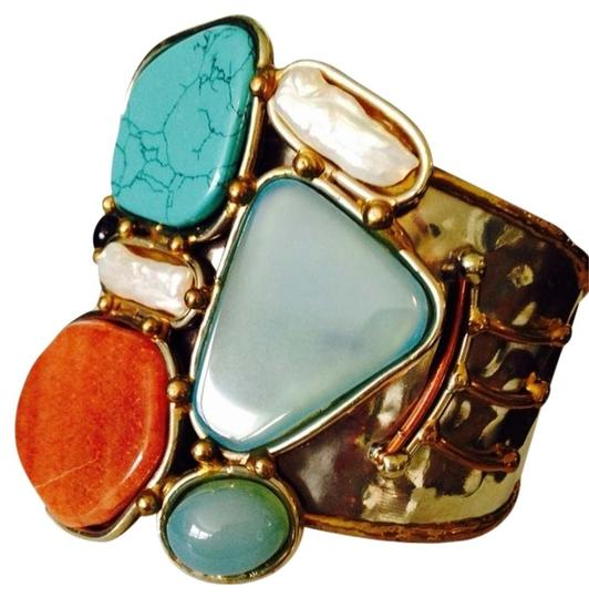 Other NWOT Multi-Stone With Freshwater Pearl Multi-Metal Cuff