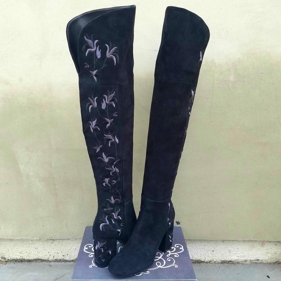 Kenneth Kenneth Kenneth Cole Embroidered Black Suede Claire Boots/Booties 62c973