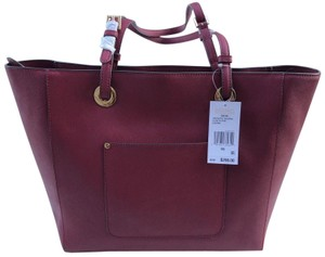 Michael Kors Walsh Saffiano Leather Tote in Mulberry Red