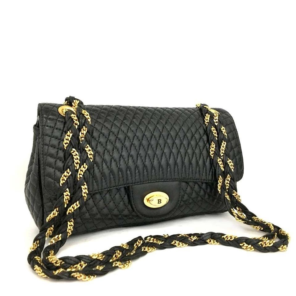 Bally Chanel Flap Classic Quilted Lambskin Chain Shoulder Bag