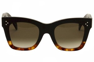 Cline NEW Celine CL 41098/S Catherine Black Havana Cat Eye Sunglasses
