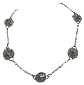 Trifari Vintage (marked) Trifari necklace of silver with Swarovski crystals