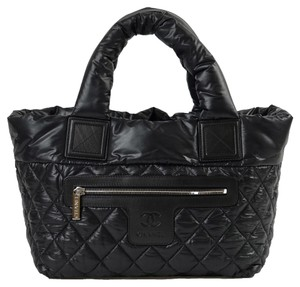 Chanel Coco Cocoon Nylon Tote in Black