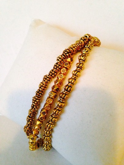 Other NWT 3 In One Antiqued Gold-Tone Stretch Bracelet