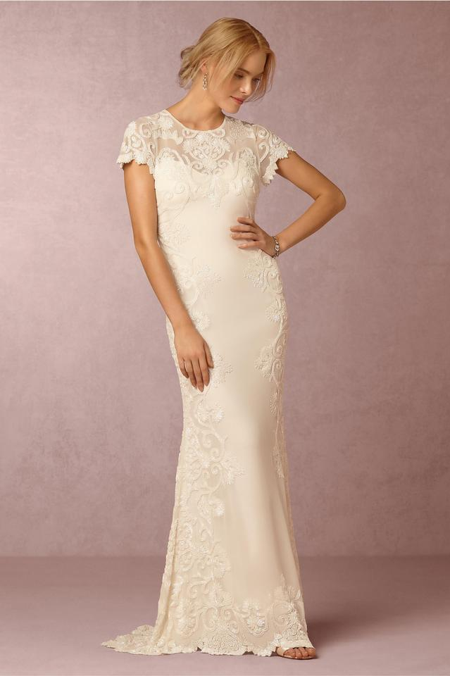 Bhldn jade gown wedding dress size 10 m tradesy for Best way to sell used wedding dress