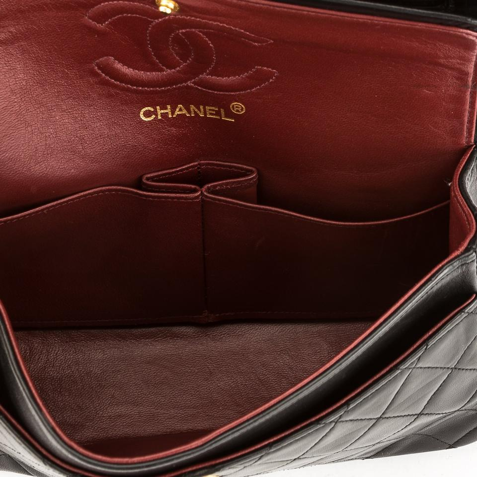 Chanel Classic Flap Quilted Leather Small Double Pre Owned Black Lambskin  Shoulder Bag - Tradesy f67cc6c8b4a5f