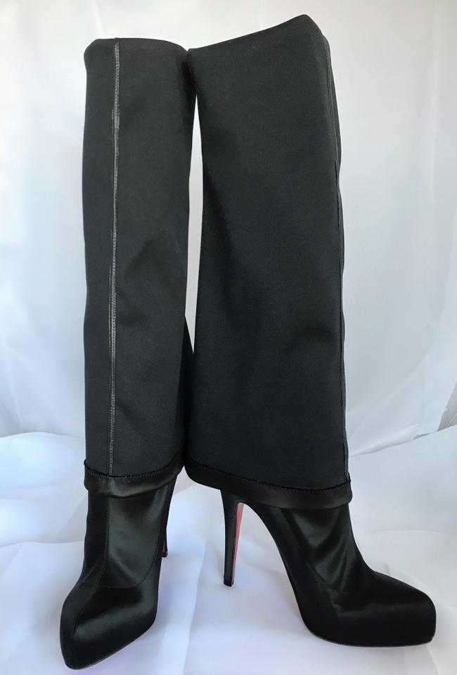 3f63bfdcc04 Christian Louboutin Black New Platform Gazolina Thigh High Over Knee Heel  Monica Pull On Boots/Booties Size EU 38.5 (Approx. US 8.5) Regular (M, B)