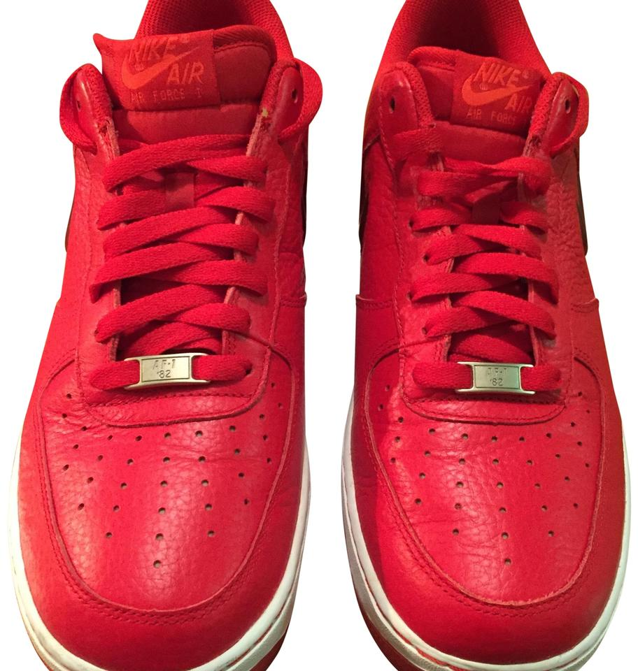 Nike Red Air Force Ones Sneakers Size Us 105 Wide C D Tradesy