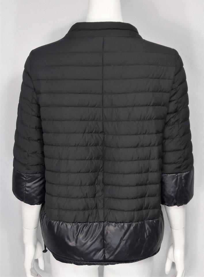 promo code a1d34 4d60a Duvetica Black & Blue Quilted Goose Down Half Slv Cropped Puffer Jacket  Size 4 (S) 70% off retail