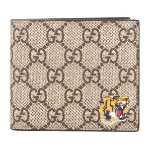 Gucci Gucci GG Supreme Canvas Tiger Print Wallet New with Tags