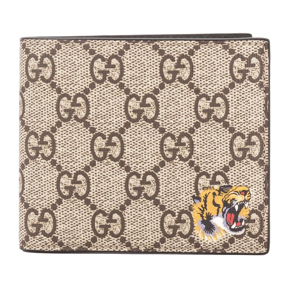 261c6223ef36 Gucci Gucci GG Supreme Canvas Tiger Print Wallet New with Tags Image 0 ...