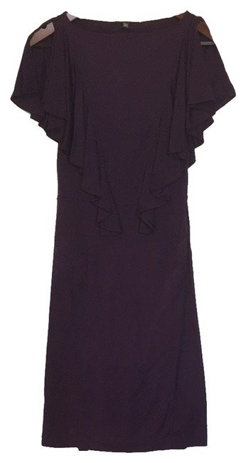Banana Republic Bodycon Stretch Plum Ruffles Ruffled Dress