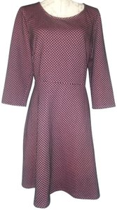 NY Collection Fit Flare Polka Dot Winter Dress