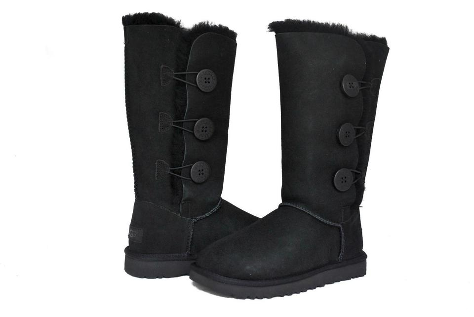 f539269d762 UGG Australia Black Women's Bailey Button Triplet Ii 1016227 Boots/Booties  Size US 5 Regular (M, B)