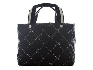 Chanel Made In France Black Beach Bag