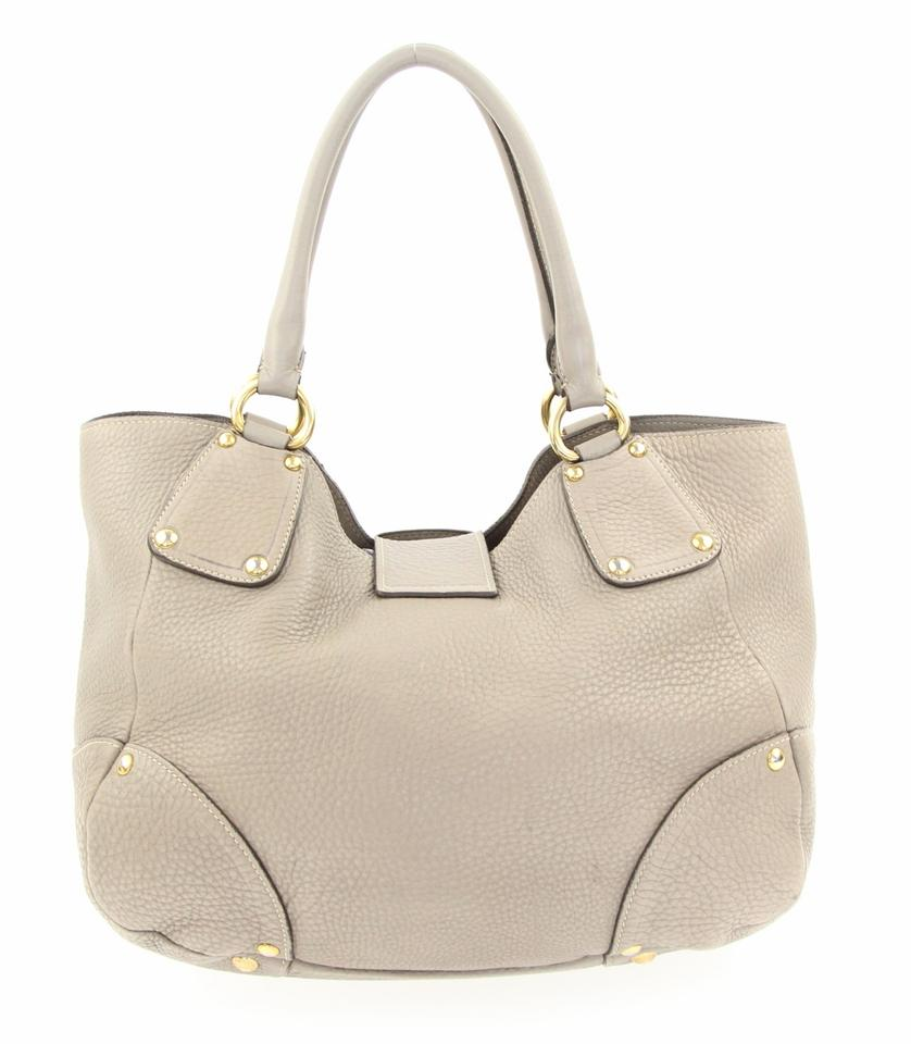 Pushlock Grey Tote Leather Antic Prada qZOwXTw4