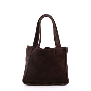 Chanel Vintage Shopping Suede Tote in Brown
