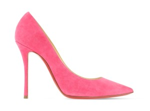 Christian Louboutin Decoltish 100 Suede Pink Pumps