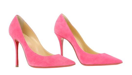 Christian Louboutin Decoltish 100 Suede Pink Pumps Image 1