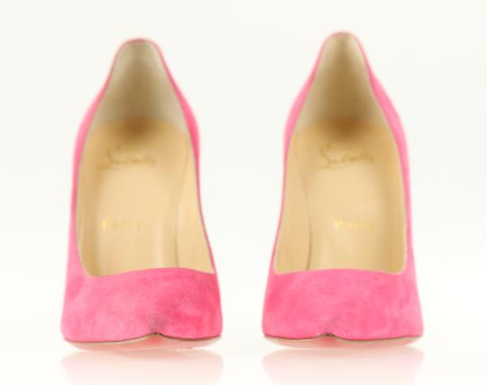 Christian Louboutin Decoltish 100 Suede Pink Pumps Image 4