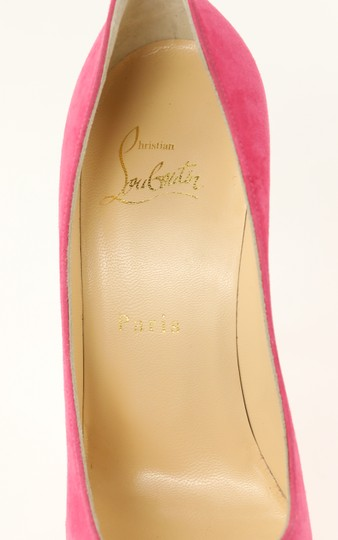 Christian Louboutin Decoltish 100 Suede Pink Pumps Image 8