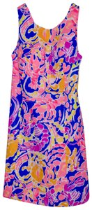 Lilly Pulitzer short dress Brilliant Blue Catch And Release Courtney Shift Neon Print on Tradesy