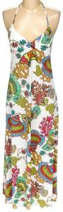 Maxi Dress by Trina Turk Sleeveless Floral Summer Sheath Halter
